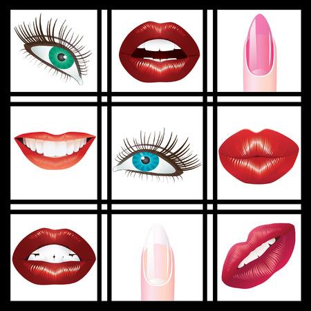 Eyes, lips and nails. Çizim
