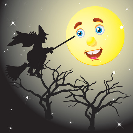 helloween: Halloween landschap.