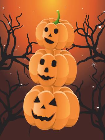 Three Halloween pumpkin Stock Vector - 8075573