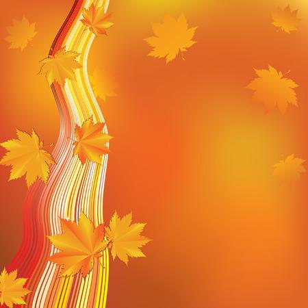 Abstract autumn background. Ilustração