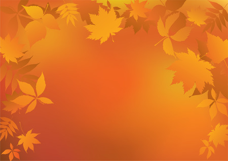 Autumn background. Stock Vector - 8075604
