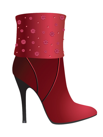 Womens shoes. Vector