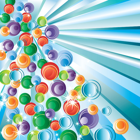 Bubbles and rays. Stock Vector - 8147008