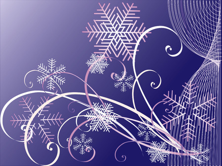 Winter backgrounds.  Vector