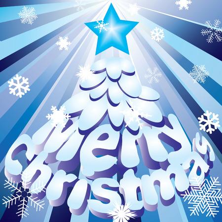 merrily: Albero di Natale astratta  Vettoriali