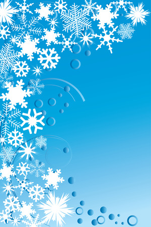 synopsis: Abstract ornament and snowflakes