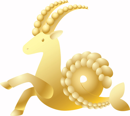 goat capricorn: Zodiac sign Capricorn on a white background