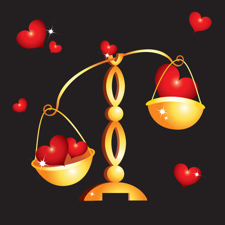 derecho romano: D�a de San Valent�n con corazones rojos y pesos de fondo. Vectores