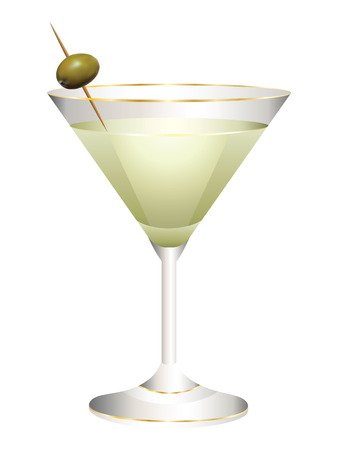 copa de martini: Vidrio con un c�ctel