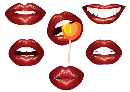 Lips Women Vector