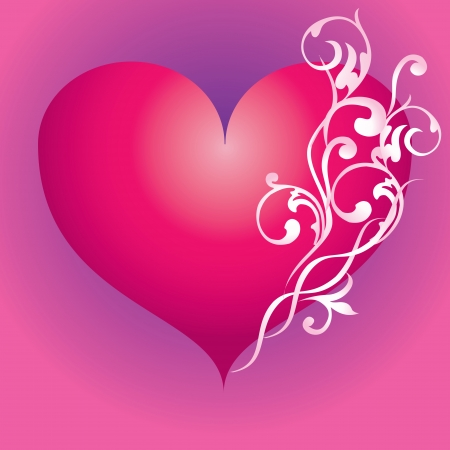 abstract pink: Abstract pink heart