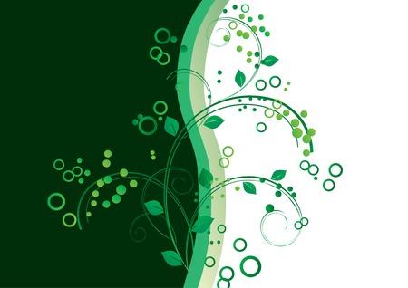 branch to grow up: Ornamento con una ramita verde