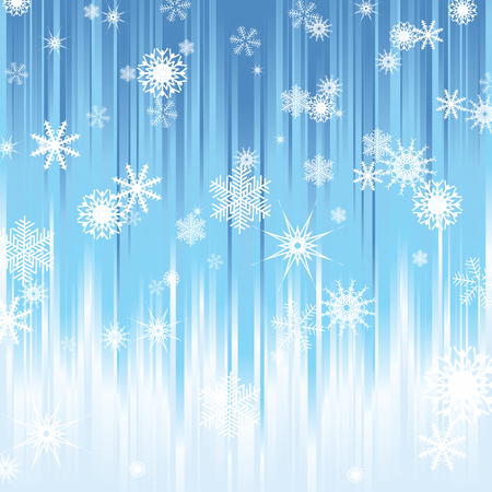 blue stripes: Snowflakes on a background of blue stripes.