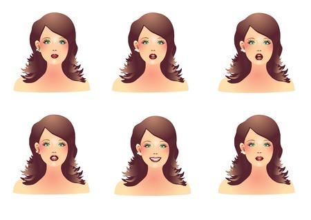 Vrouwen worden geconfronteerd met verschillende emoties