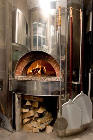 Moderne pizza oven Stockfoto