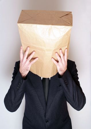 Depresive businessman photo