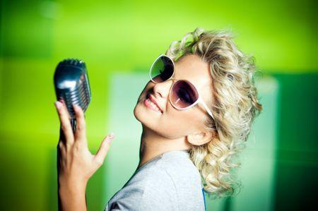 Retro singer photo