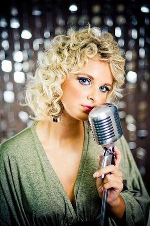 entertaining: Beautiful singer