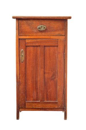 Oude houten kast  Stockfoto