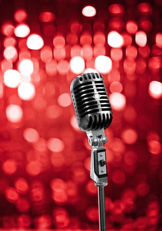 microfono antiguo: Micrófono retro