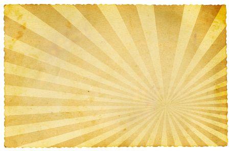 Retro papier op wit wordt geïsoleerd  Stockfoto