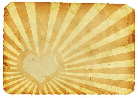Vintage heart paper Stock Photo - 6251396