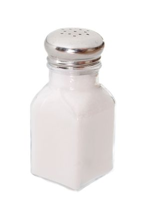 Salt shaker isolated on white Stock Photo