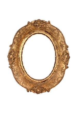 Old oval picture frame  photo