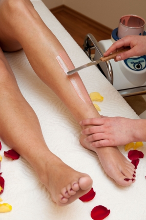 waxed legs: Depilazione gamba