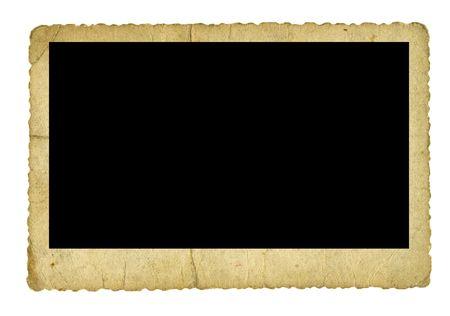 photo frame: Vintage photograph isolated on white Stock Photo