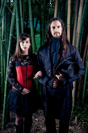 Gothic couple Stock Photo - 8101863