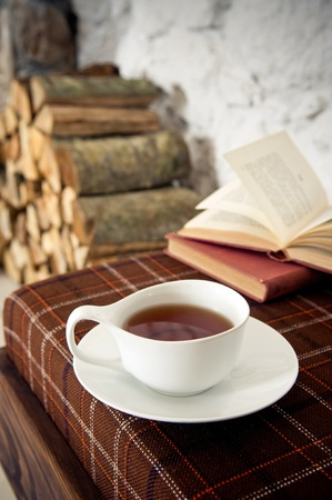 Wintertime tea Stock Photo