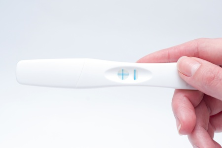 Positive pregnancy test photo