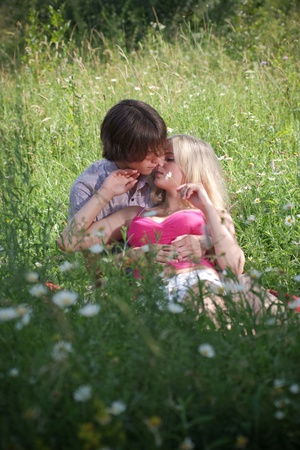 Teenage couple in love  Stock Photo - 8945558
