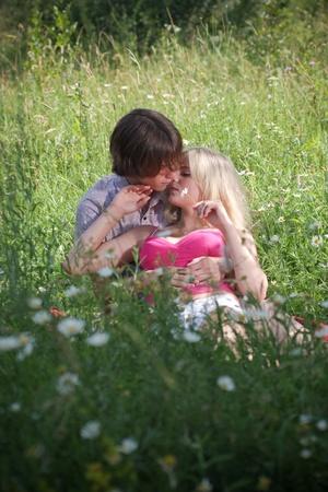 Teenage paar in liefde  Stockfoto