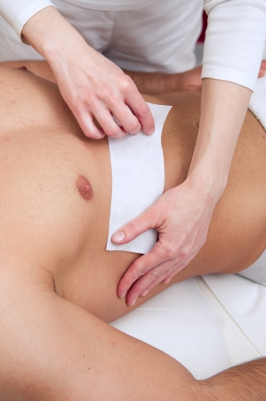 Waxing in spa salon