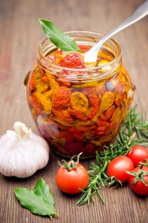 legumbres secas: Tomates secados al sol en aceite de oliva
