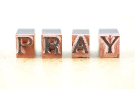 printing block: Word pray