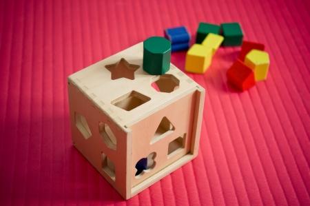 sorter speelgoed houten vorm Stockfoto