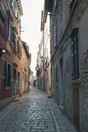 Street in Rovinj Istra Croatia photo