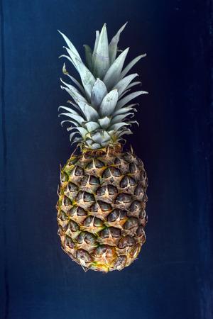 dark blue: Pineapple on simple dark blue
