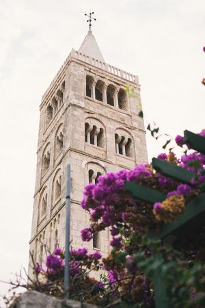 church tower: Church tower in city of Rab, Croatia