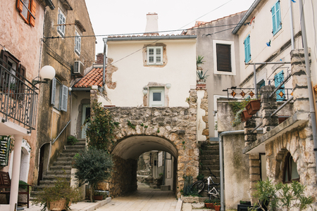 mediterranean house: City of Omisalj on island of Krk, Croatia