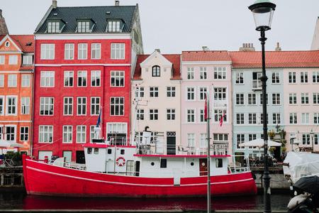 danish: City of Copenhagen. Nyhavn detail.