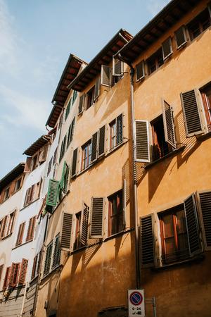 Straten van Florence, Italië Stockfoto
