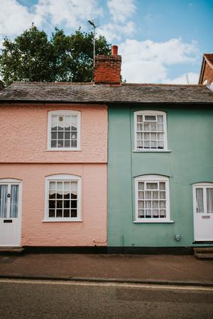 Typische Engelse huizen in Lavenham