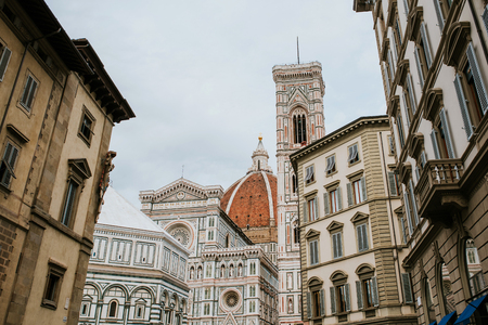 Beroemde Santa Maria del Fiore-kathedraalkerk met Baptistery in Florence