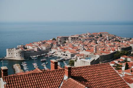 Mooie oude stad van Dubrovnik in Kroatië Stockfoto
