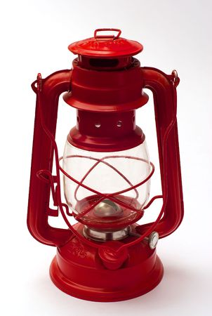 old oil lantern for camping photo