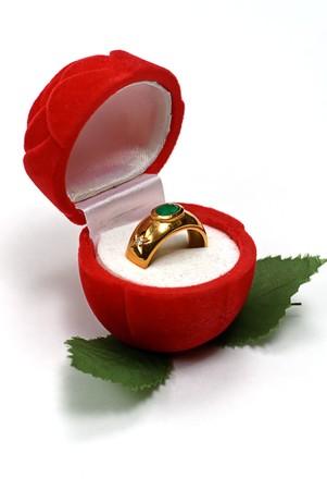 radiosity: valentine day gift on white